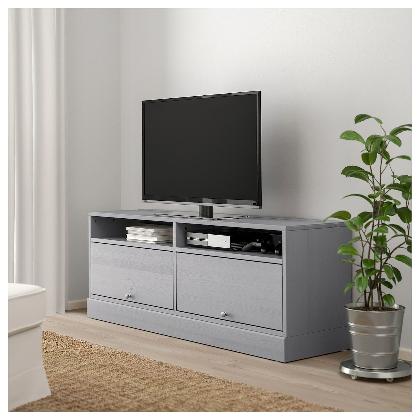 HAVSTA TV bench with plinth grey IKEA