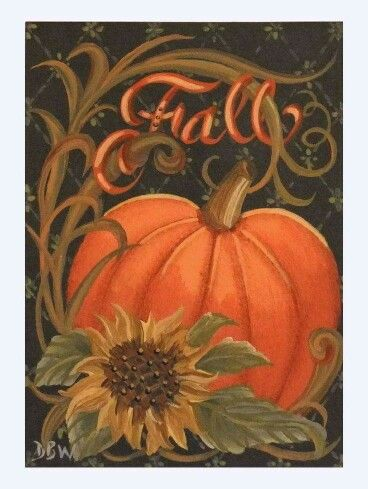 Fall Pumpkin Sunflower Fall Canvas Painting Fall Canvas Halloween Painting