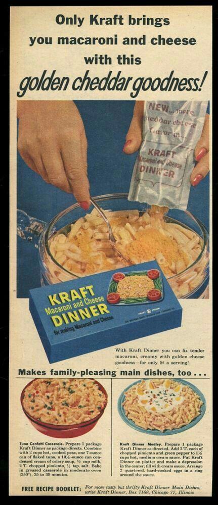 1959 kraft dinner ad
