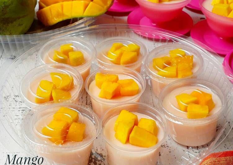 Resep Mango Silky Pudding Oleh Sukmawati Rs Resep Pisang Beku Resep Makanan Dan Minuman
