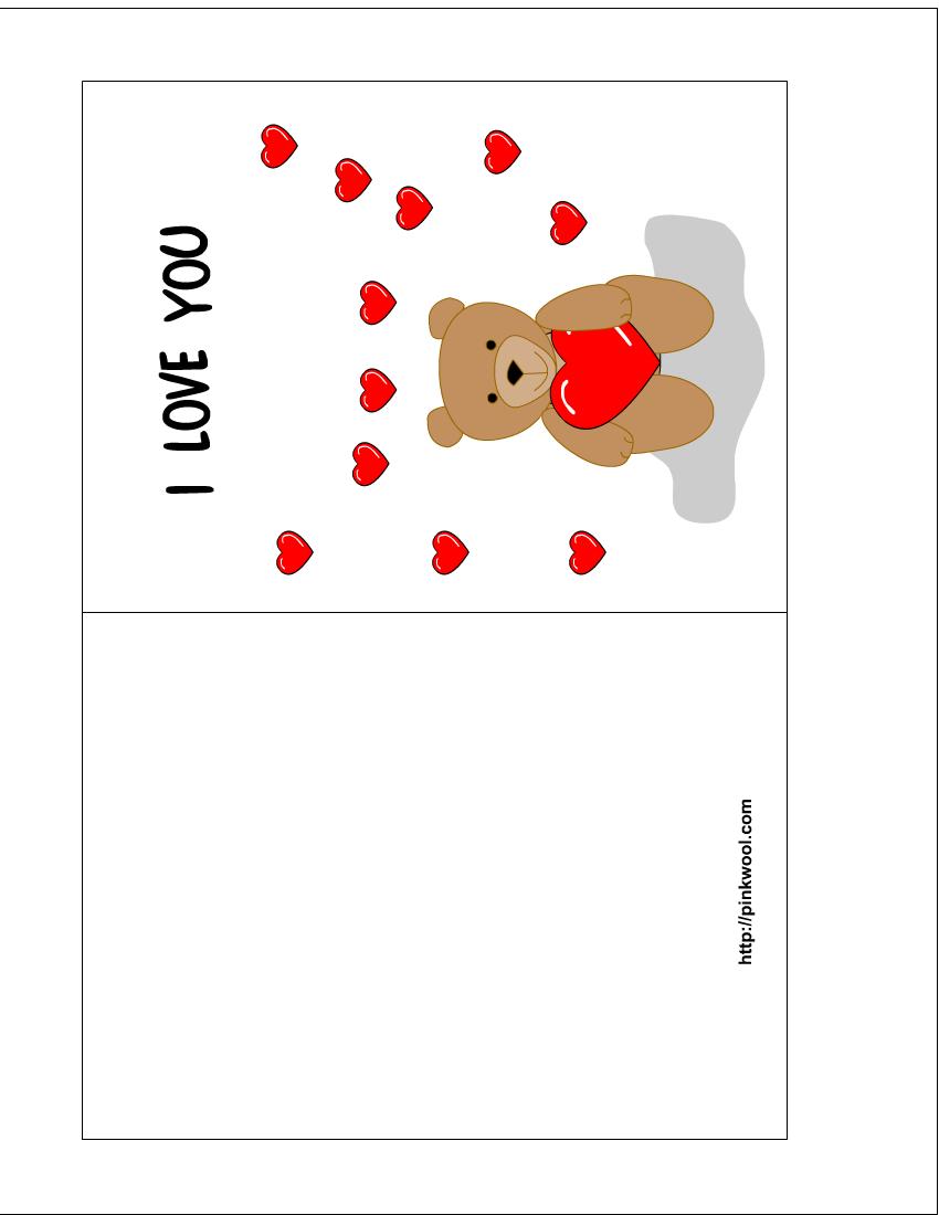 Kids Id Card Template Printable Valentine Card Free Printable