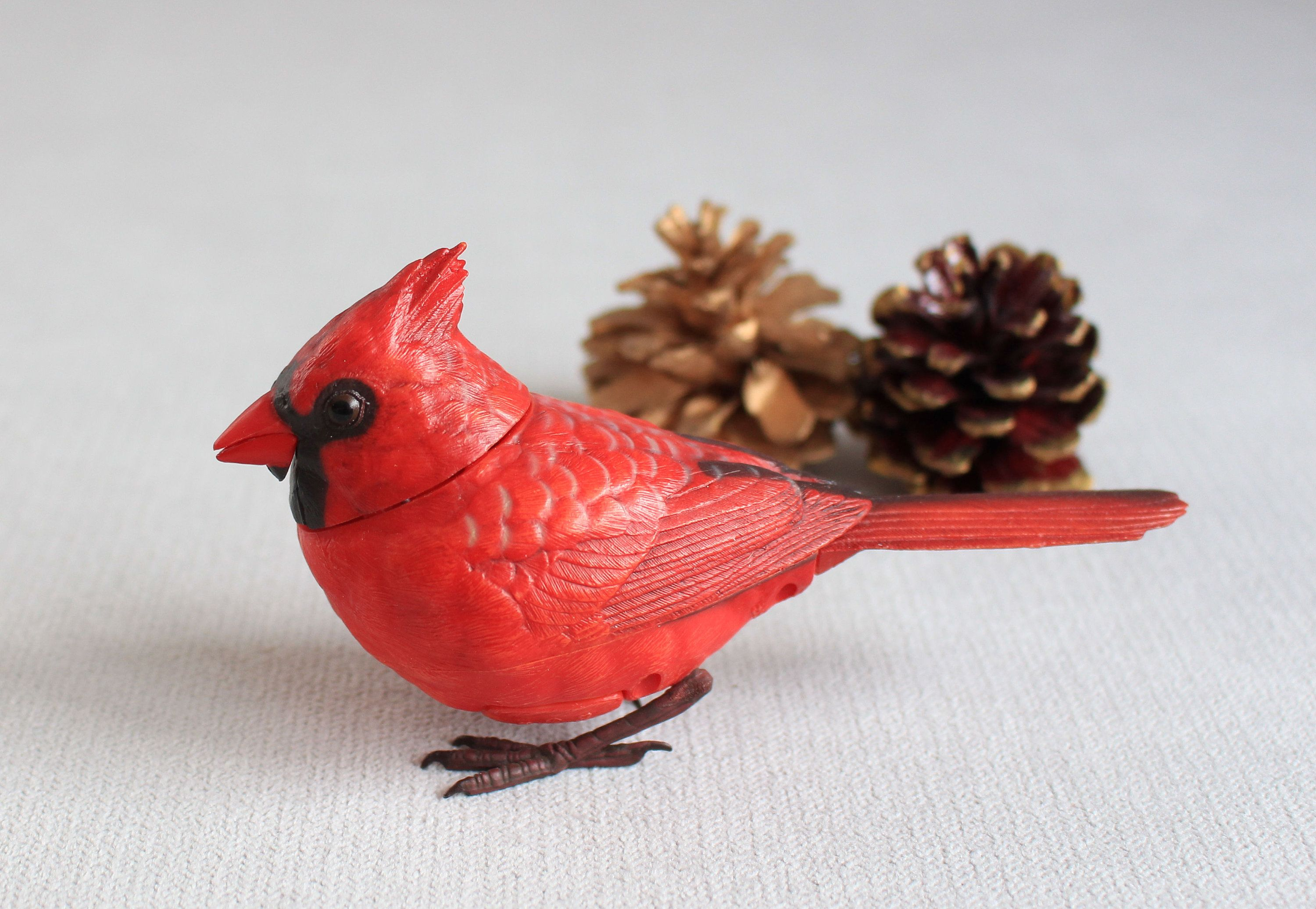 Singing Red Cardinal Christmas Ornaments Red Cardinal Decoration Bird For Table Decoration Motion Tree Orn Cardinal Christmas Decor Red Cardinal Red Birds