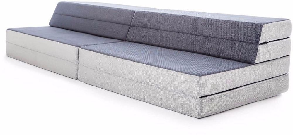 Lucid Convertible Folding Foam Sofa Bed 3 In 1 Mattress With