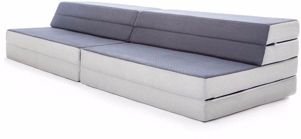 Convertible Folding Foam Sofa Bed 3 In 1 Mattress With Removable Cover Mattress Foam Sofa Bed Mattress Sofa Sofa Bed
