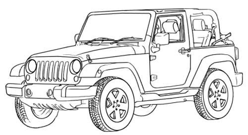 Jeep Wrangler Off Road Coloring Page Off Road Car Car Coloring Pages Cars Coloring Pages Jeep Drawing Truck Coloring Pages