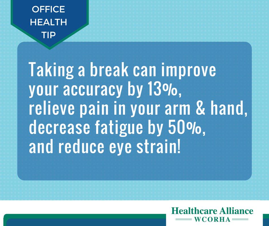 Office Health Tip! Office health, Occupational health