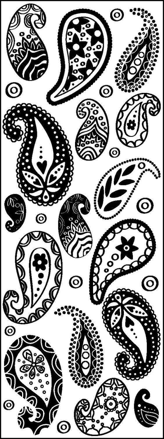 Motifs indiens cachemire dessins paisley drawing paisley design et paisley pattern - Motif oriental a imprimer ...