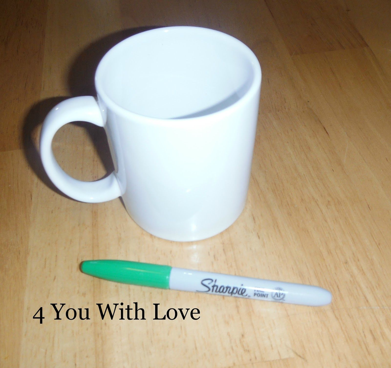 4 You With Love: Spirit Mondays #3 - DIY Team Coffee Mug