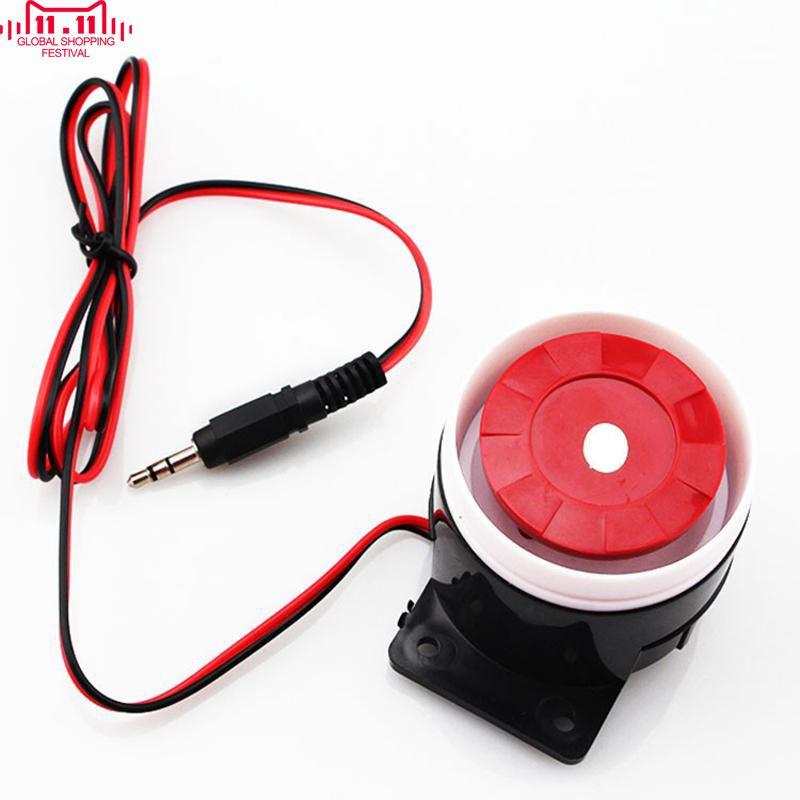 2014 Nuevo Wired Seguridad Para El Hogar Mini Sirena Alarmas de ...