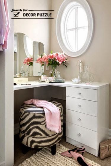 corner modern dressing table designs for small bedroom