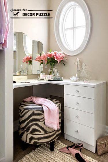 corner modern dressing table designs for small bedroom Dressing