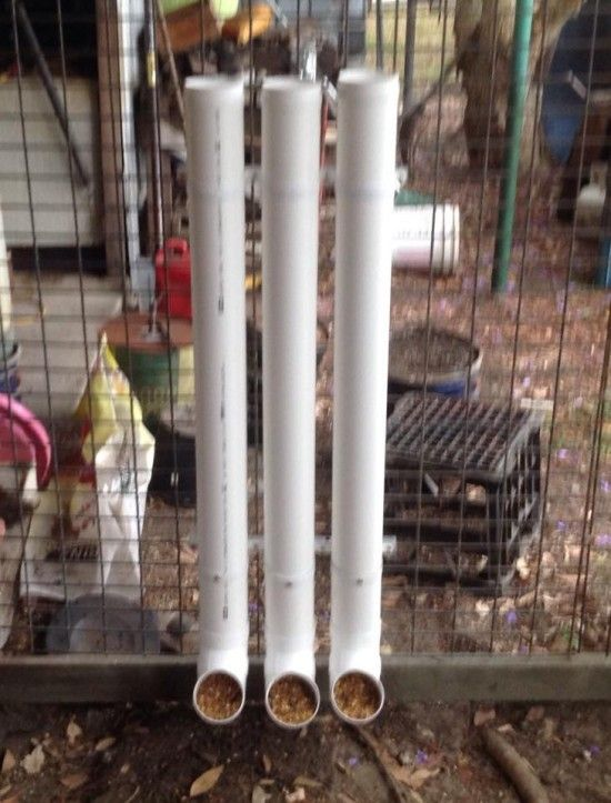 diy how to build a pvc chicken feeder