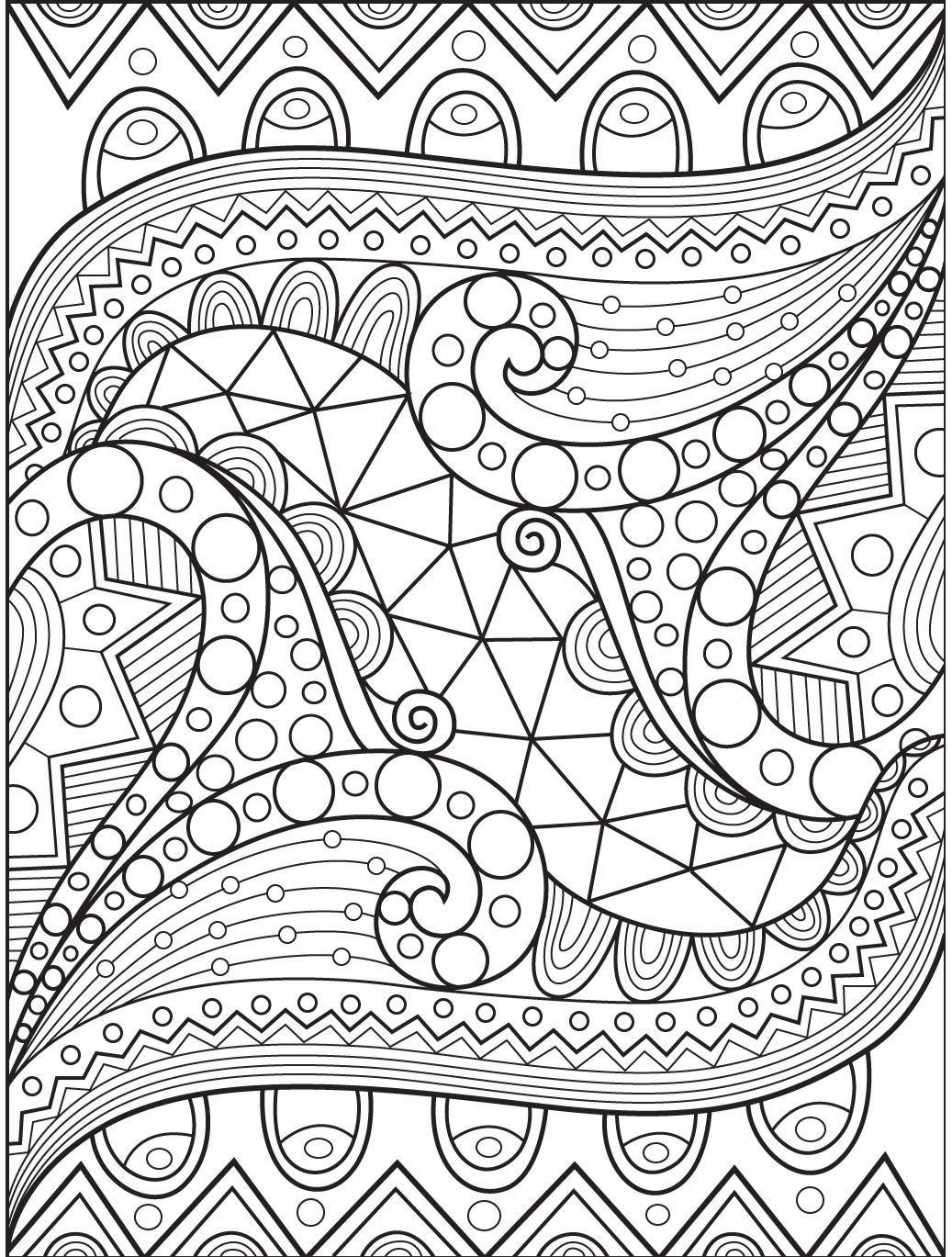 Abstract coloring page on Colorish: coloring book app for ... | fun printable coloring pages for adults