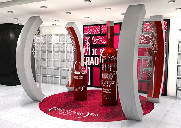 Louis Vuitton Moët Hennessy wanted to set up a pop-up sampling and retail area at Heathrow Terminal 5 to promote their premium vodka brand's relationship with the (RED) AIDS charity and the special edition bottle that comes with it.