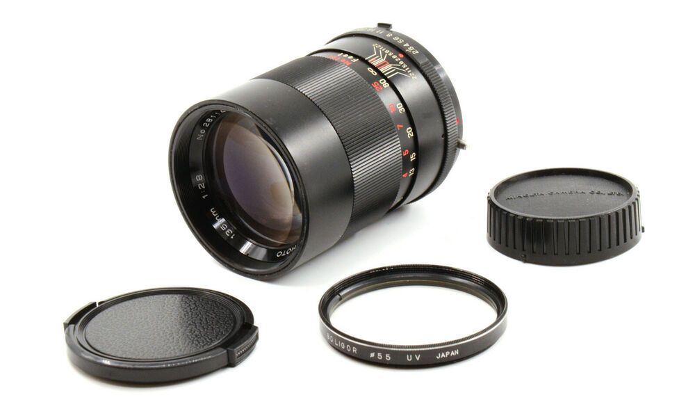 Auto Vivitar Telephoto 135mm F2 8 Lens For Minolta Md Mount Good Condition Vivitar Canon Lens Lens Canon