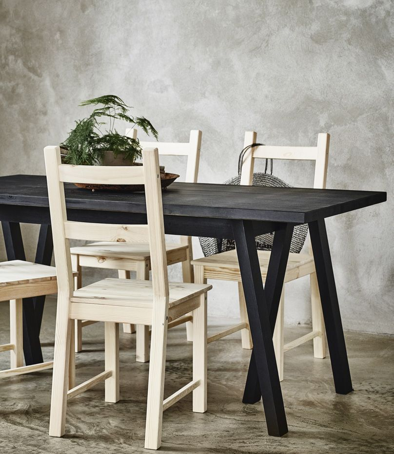 RYGGESTAD Tafel, zwart, Grebbestad zwart   Ikea hack, Interiors and ...