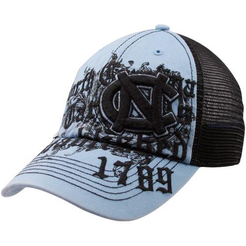 check out 36819 a4976 North Carolina Tar Heels (UNC) Carolina Blue Motto Mesh Back Flex Hat