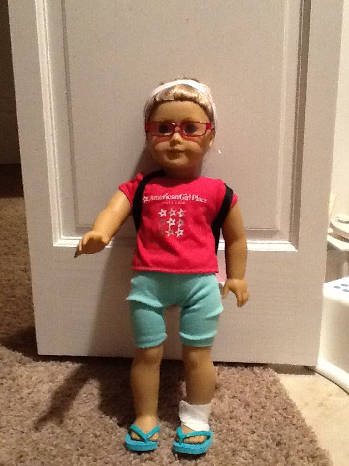 First day of school american girl doll style