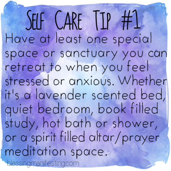 Self Help Quotes: Self Care Tip: Sanctuary