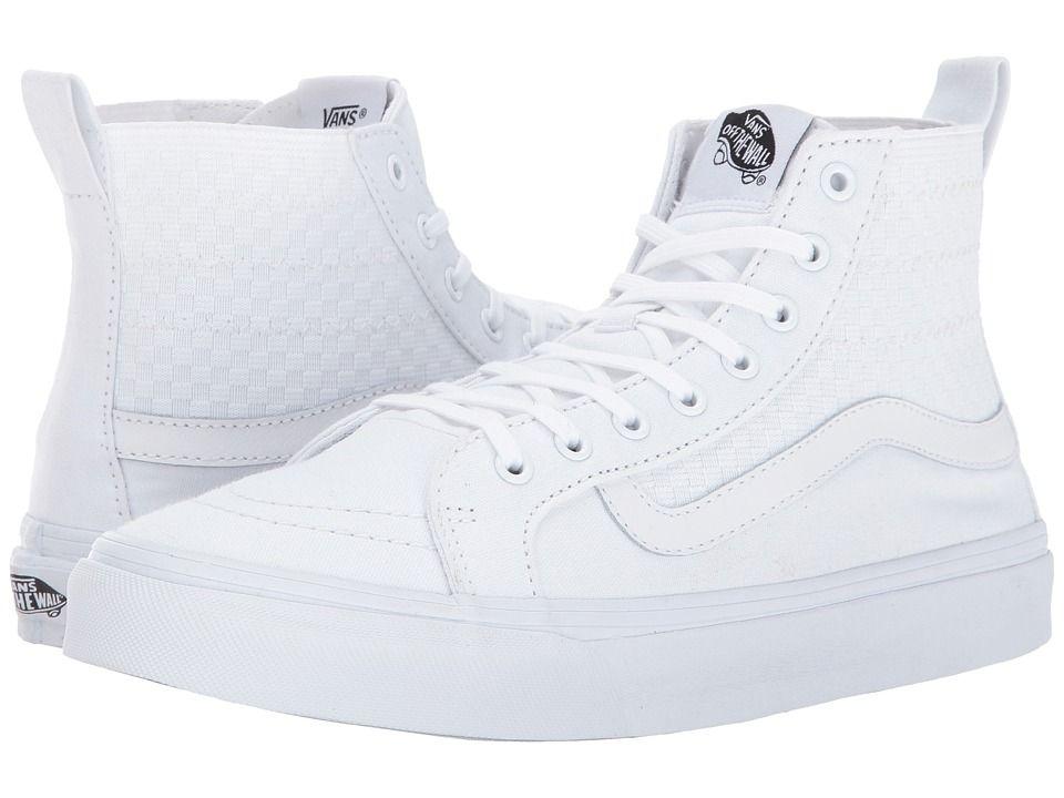 9e21232699 Vans SK8-Hi Slim Gore Skate Shoes (Checker Gore) True White ...