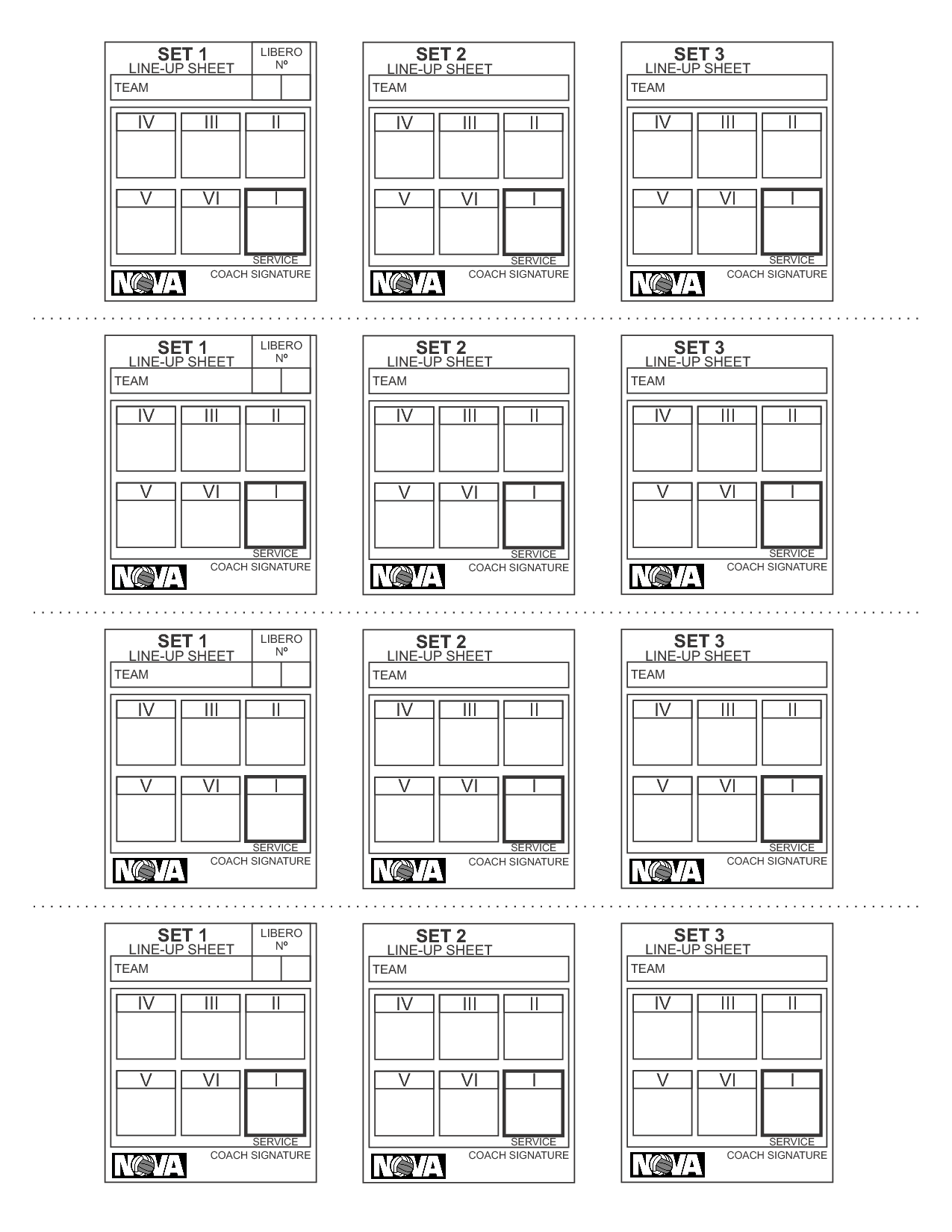photo lineup template rotation cards coaching pinterest volleyball 2363