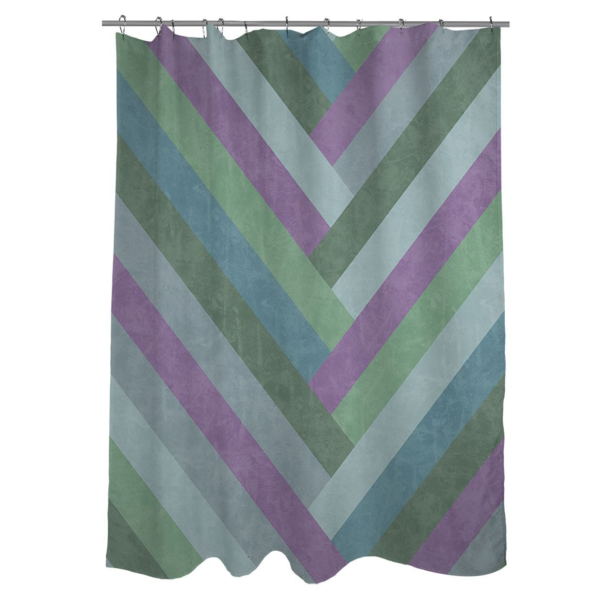 Featuring A Chevron Design In Lovely Muted Shades This Thumbprintz Shower Curtain Adds Contemporary