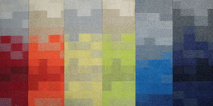 Code Carpet Tile In Textured Loop Solution Dyed Nylon By