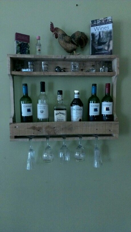My version on a wine rack made from pallets