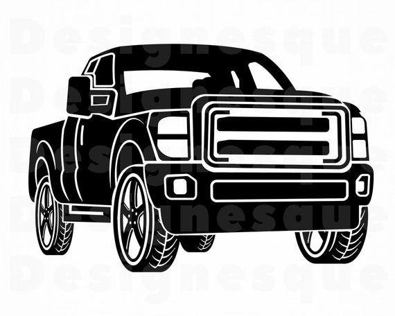Pickup Truck Svg Pickup Truck Clipart Pickup Truck Files For Etsy In 2021 Pickup Trucks Trucks New Trucks