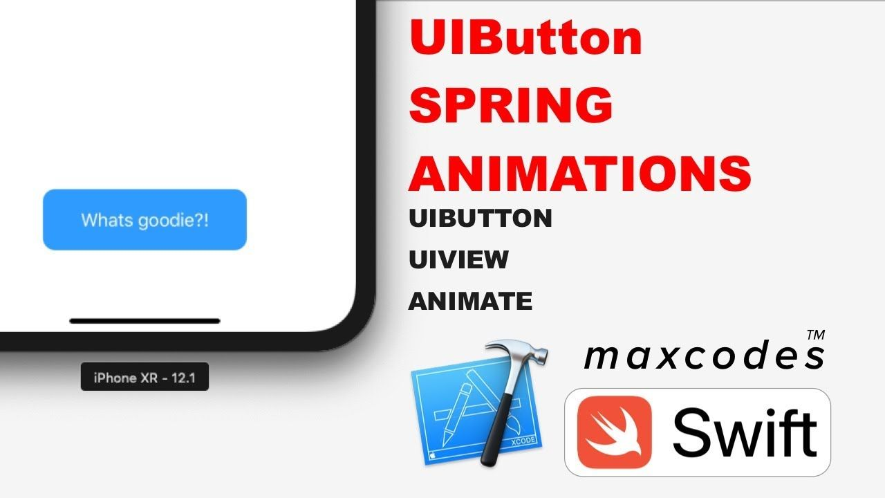 Button Tap Spring Animation - UIButton Spring Animations in