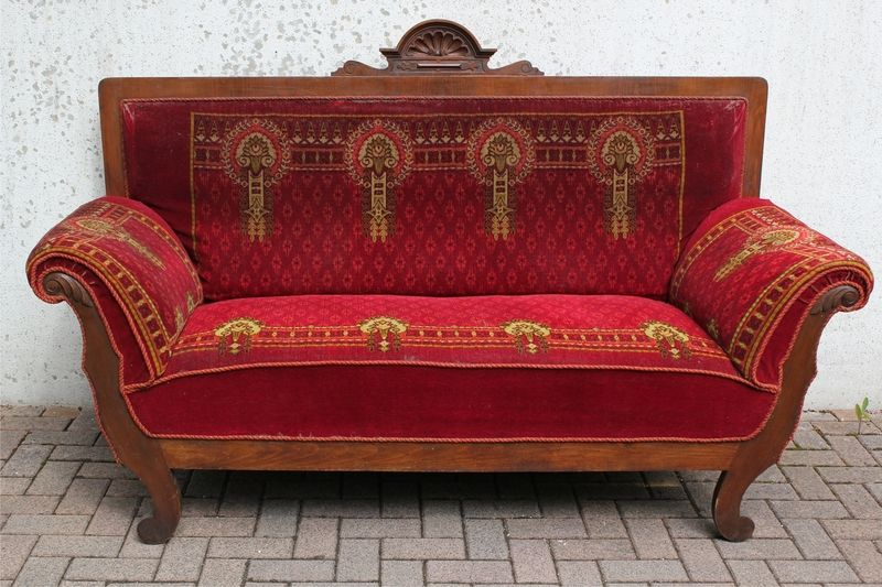 Jugendstil sofa um 1900 furniture 1900 1980 pinterest for Sofa jugendstil