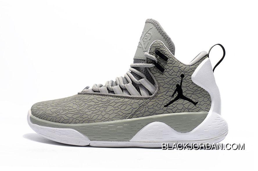 Nike Jordan Super.Fly MVP Cement Grey White-Black Mens Basketball Shoes New  Release 9be780641