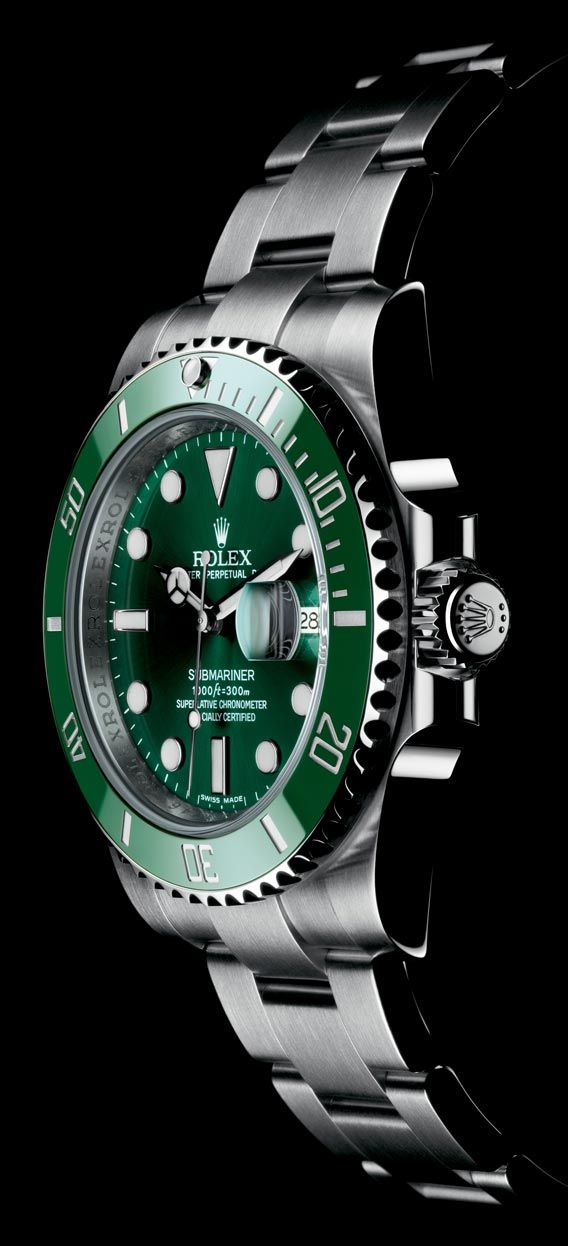 f400b78c97e The Watch Quote  The Rolex Oyster Perpetual Submariner Date watch with  black or green surface