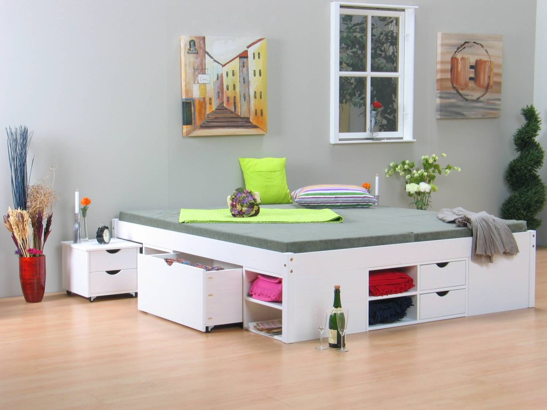 Baza bed met opbergruimte luxory beige opberg bed storage