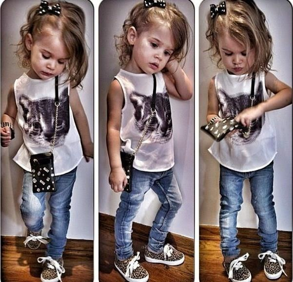 15de8782e MODA INFANTIL - 21 Looks para a garotada … | Little girl hairstyles ...