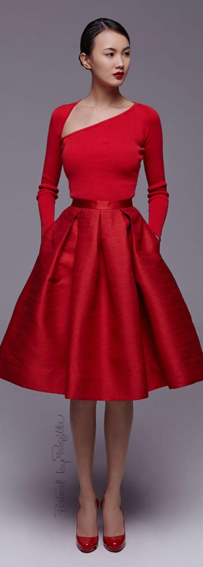Regilla Red Cocktail Dress Red Dress Red Fashion [ 1920 x 690 Pixel ]