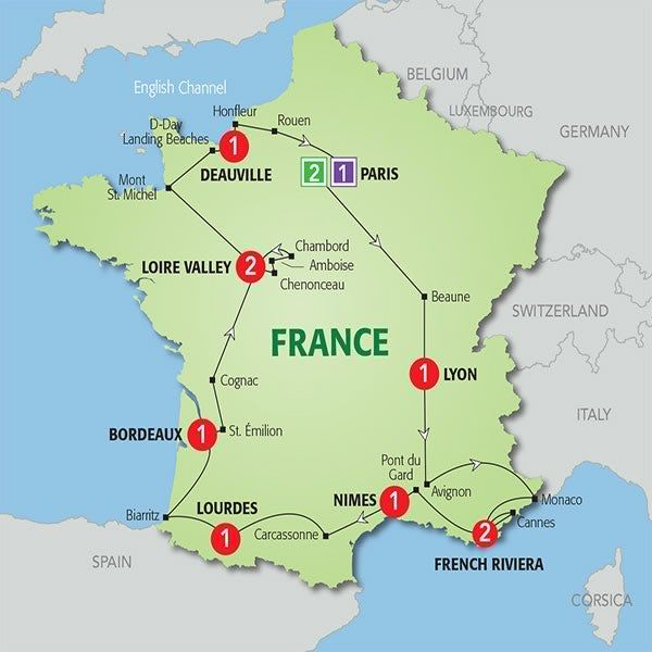 Versailles Map Of France.13 Day Highlights Of France In 2019 France France Map Tours