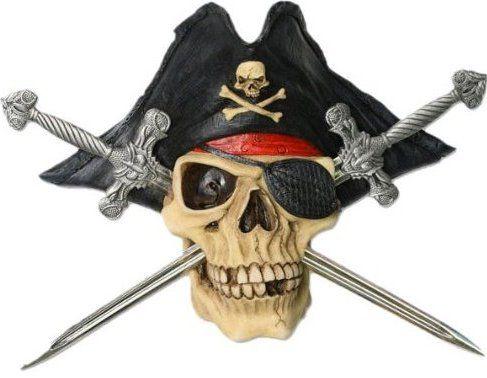 Jolly Roger Pirate ihmisen kallo Luut Swords vastaanotto Kirjeenavaaja Knife Set 2