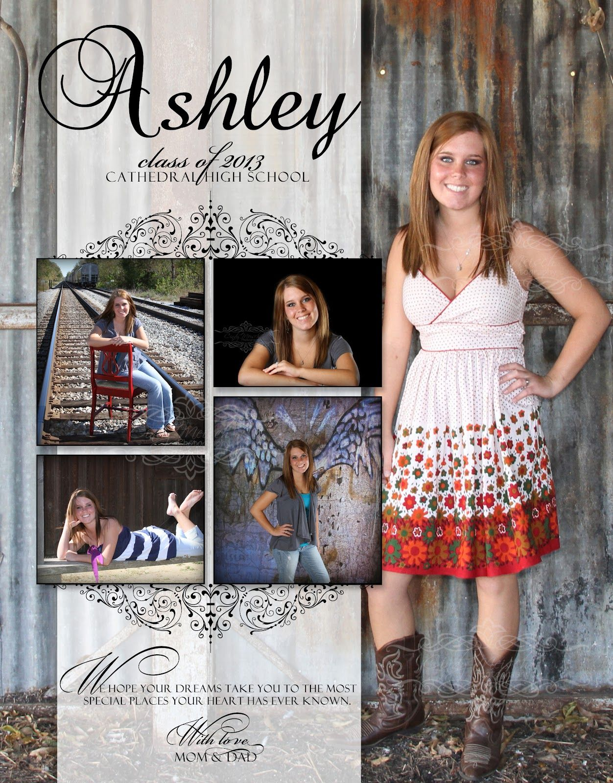 Cindy meisch photography high school senior portraits memphis area photographer yearbook for Senior ads ideas