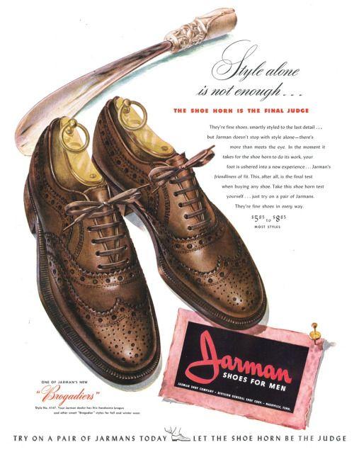Jarman shoes for men advertisement, 1942