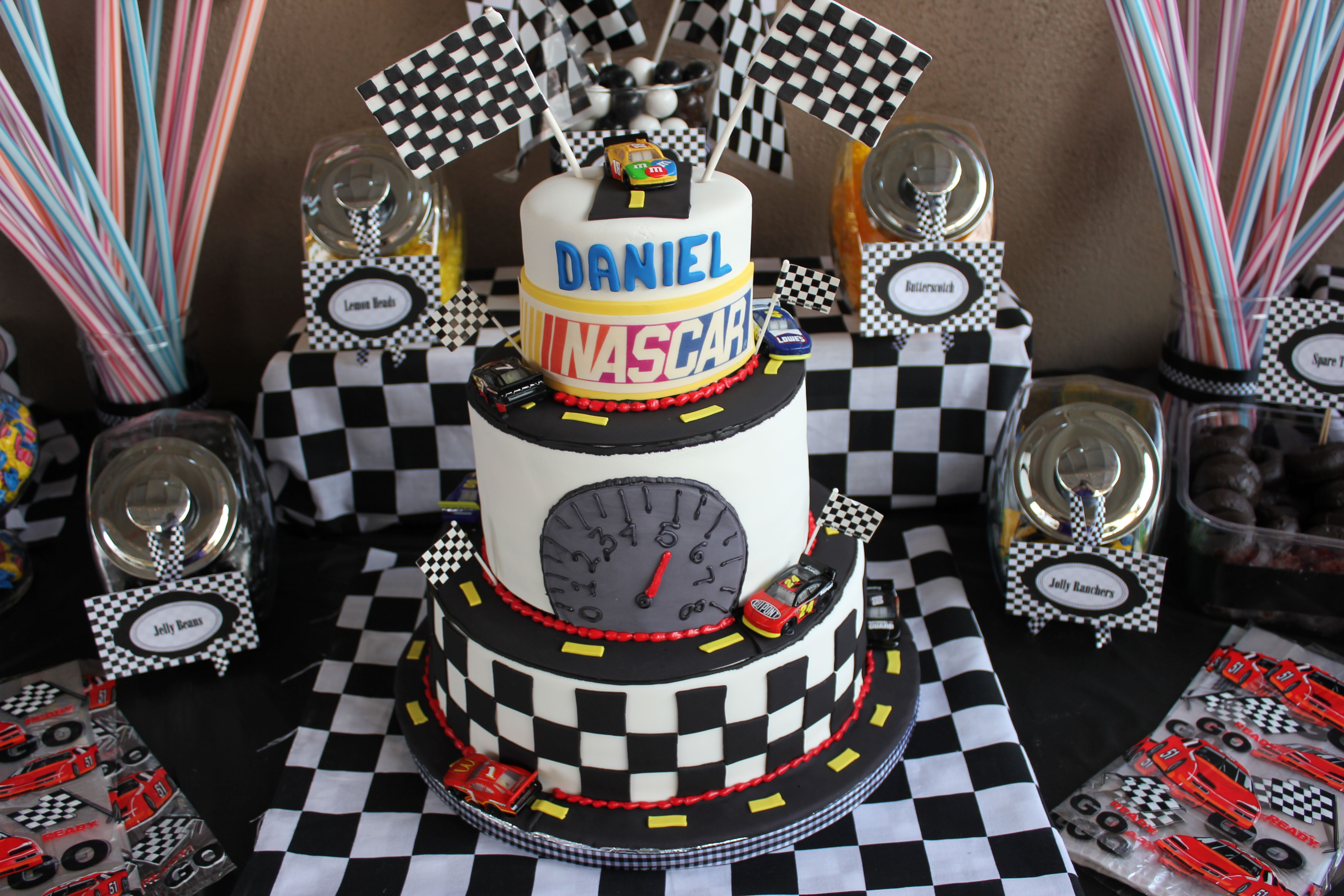 Nascar Birthday Cake. Laura Banderas-avalos
