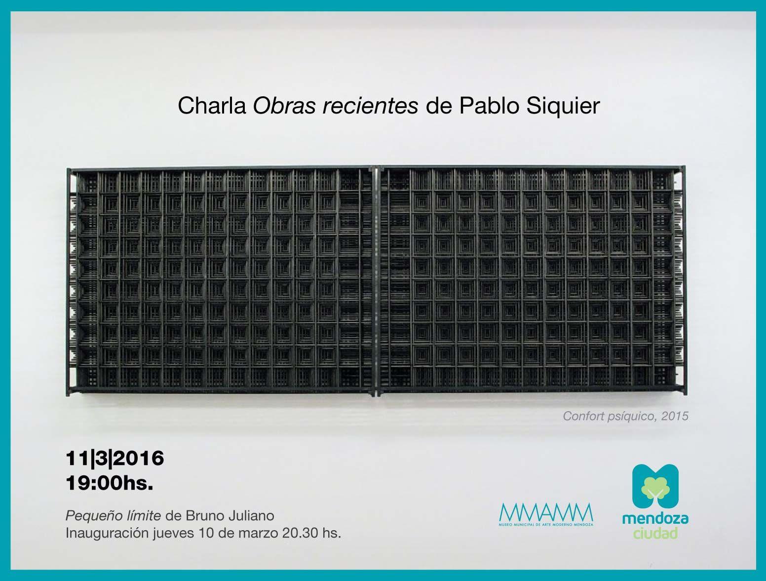 Charla abierta con Pablo Siquier