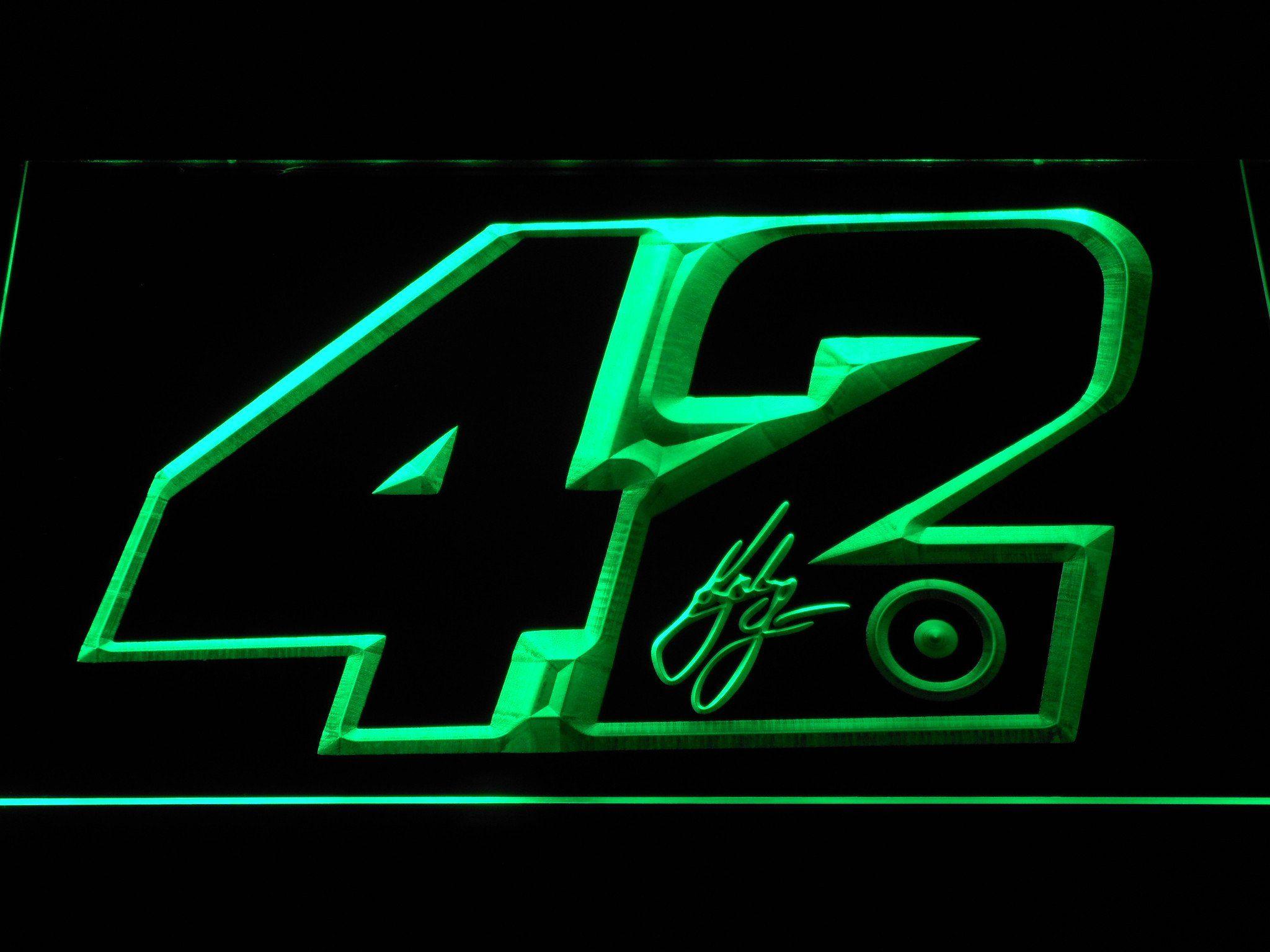 Kyle Larson Signature 42 LED Neon Sign Led signs, Neon