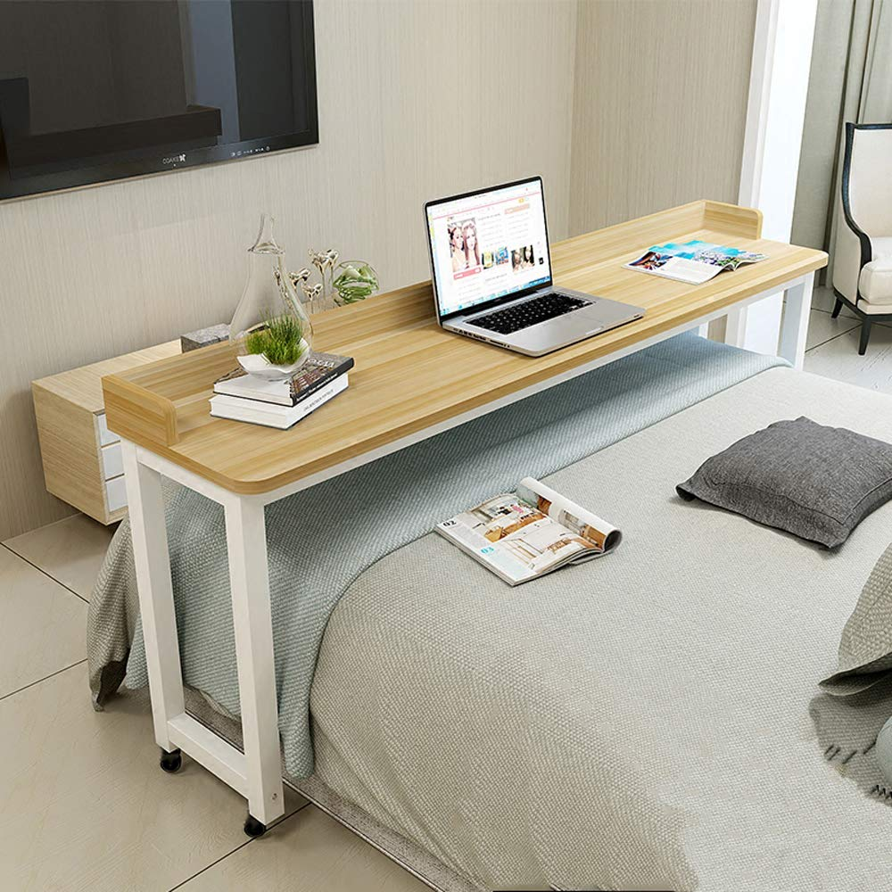 Komorebi Overbed Table With Wheels Rolling Bed Table Over The Bed Table Laptop Cart Laptop Desk Mobile Desk Computer Desk For Bed In 2020 Bed Table Overbed Table Home