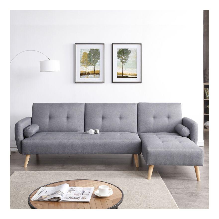 Leska Gris Canape Scandinave Convertible 3 Places Gris 222150 Home Decor Furniture Decor