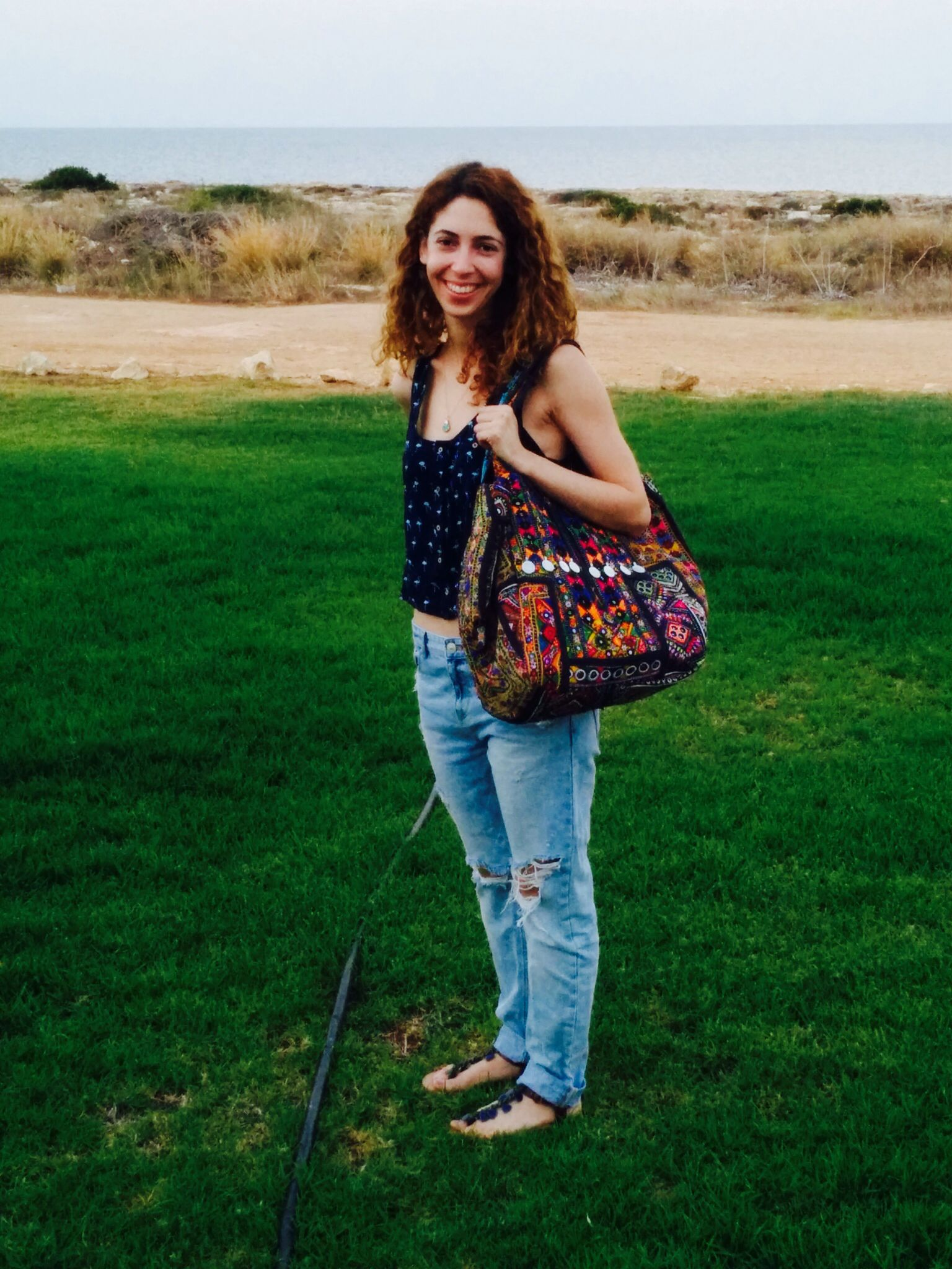 Our lovely friend and customer Nadia wearing our Banjara Coins & Mirrors out and and about this weekend! Love it. #ethnic #bag #tribal #vintage #embroidered #London shop it here: http://be-snazzy.com/banjara-coins-mirrors