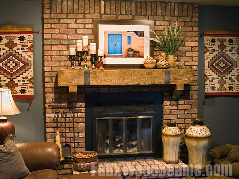mantel decorating ideas faux mantel shelf with decorative straps rh pinterest com mantel designs for brick fireplaces mantel ideas for brick fireplace wall
