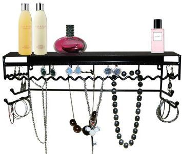 Classic Black Jewelry Holder Jewelry Stand for Earrings Necklaces Bracelets