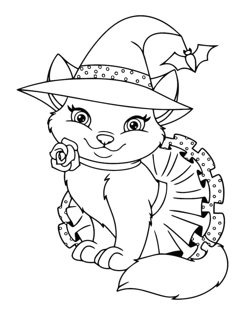 Gallery Kitten Coloring Pages 21 Printable Kitten Coloring Pages for , Etsy is free HD wallpaper.