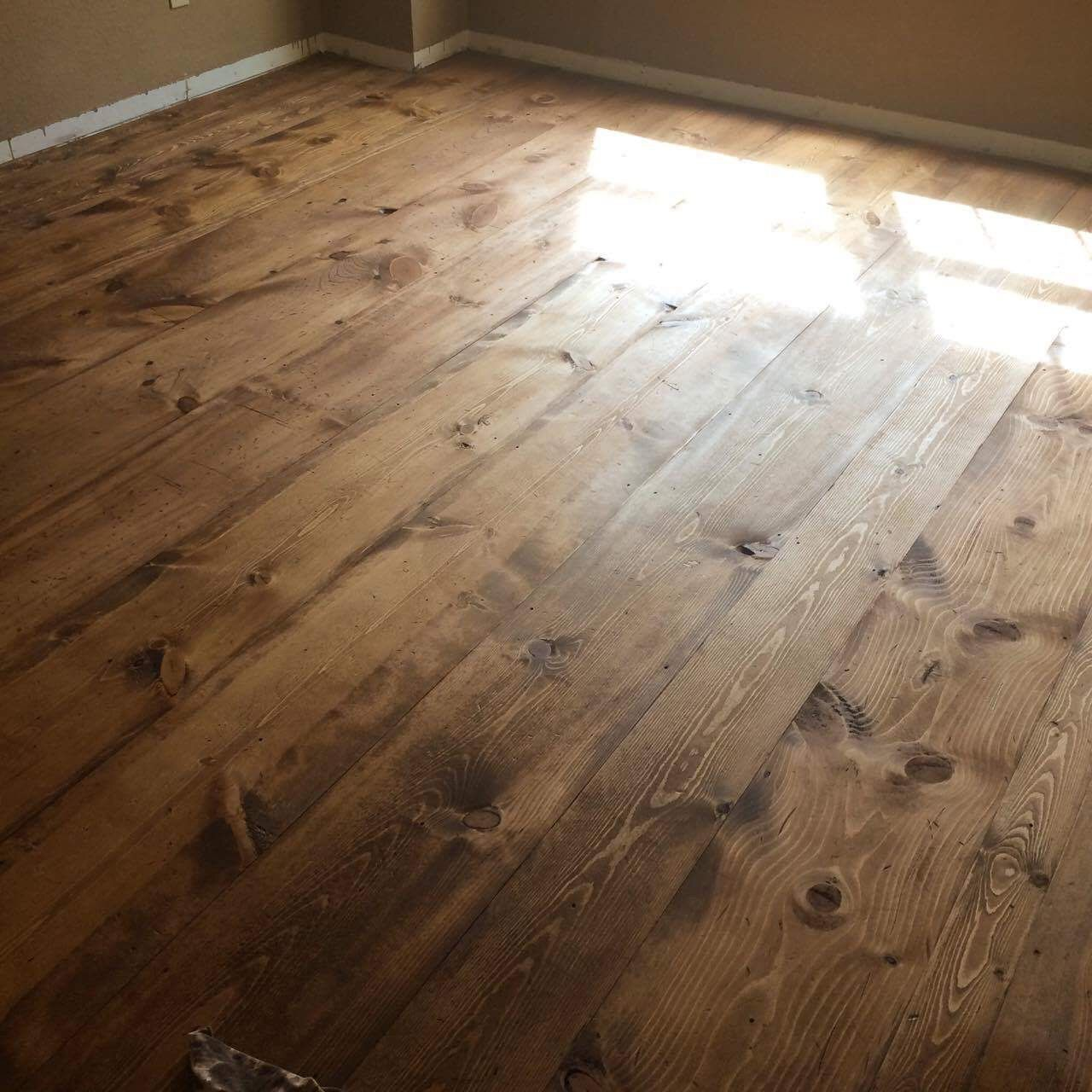Pine Plank Floors Stained With Minwax